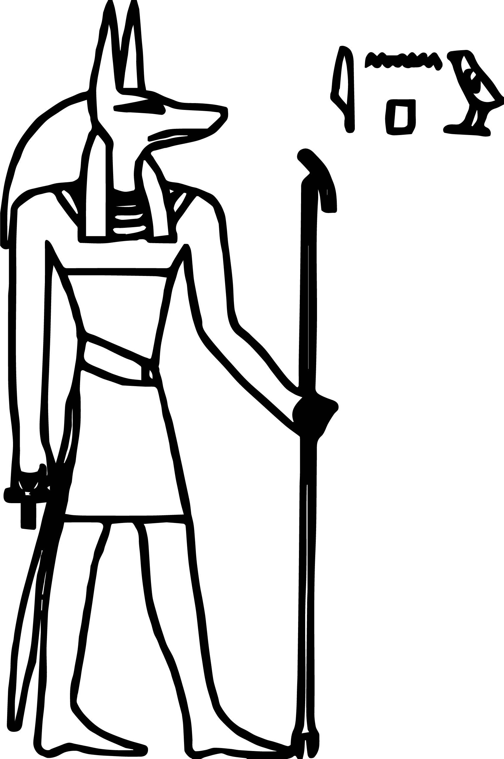 Molumen Anubis Coloring Page