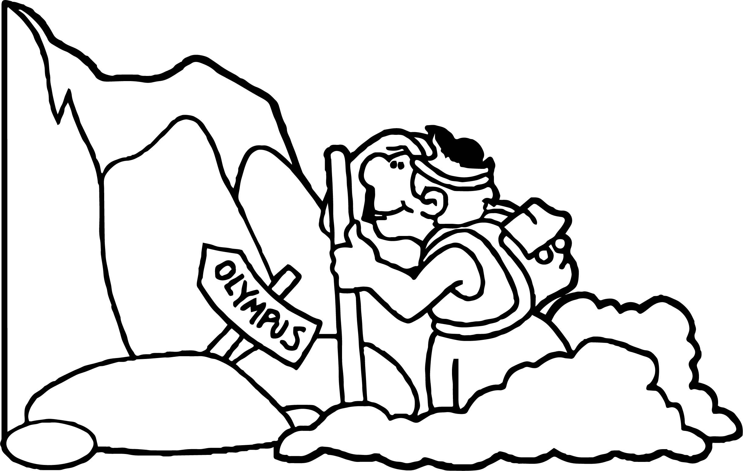 Mount Olympus Coloring Page