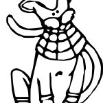 New Ancient Egypt Cat Coloring Page