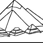 New Ancient Egypt Pyramid Coloring Page