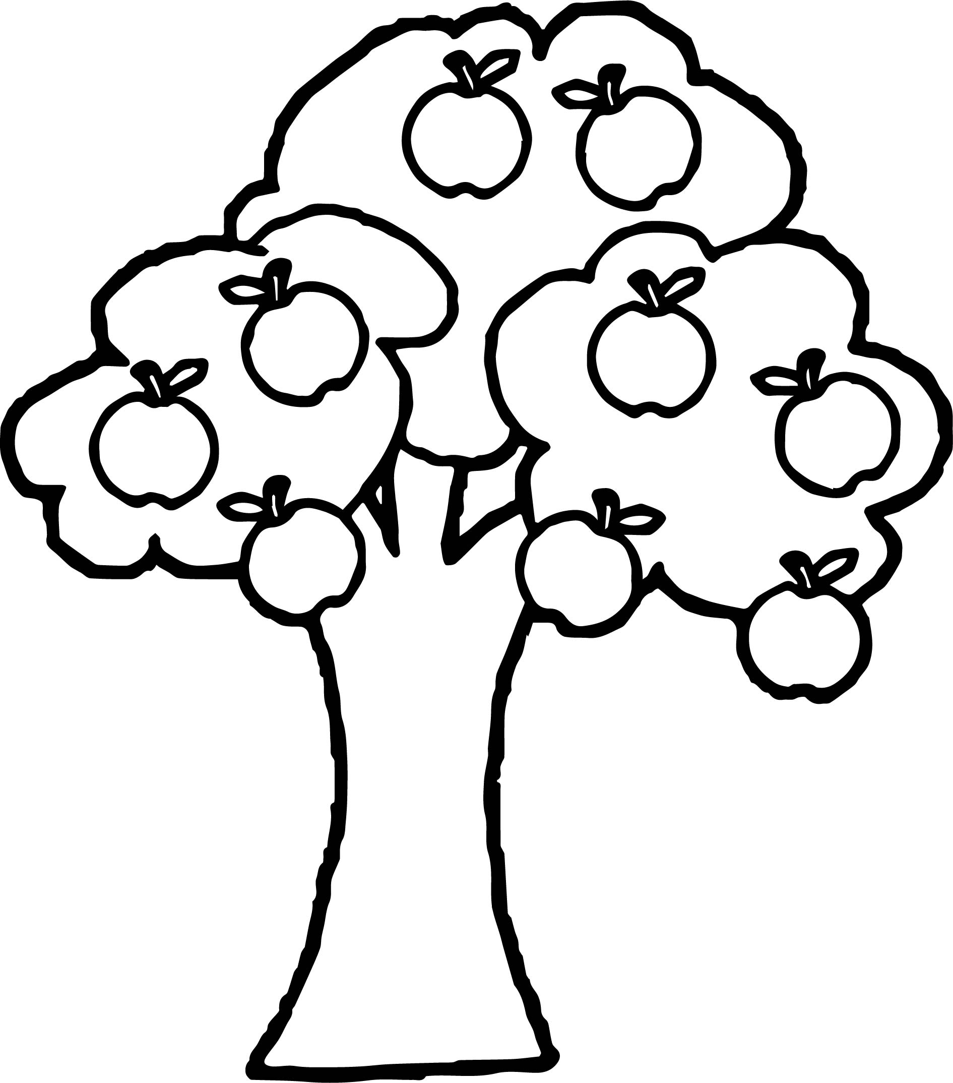 New apple tree coloring page for Apple coloring pages