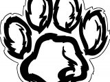 New Tiger Footprint Coloring Page