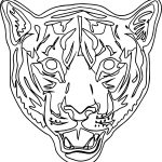 New Tiger Mask Coloring Page
