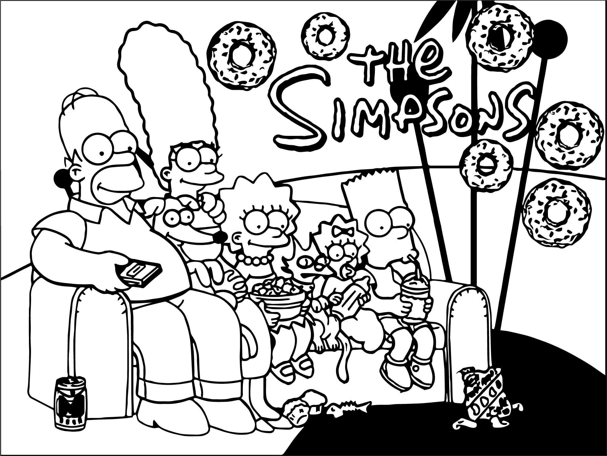 New Wallpapers The Simpsons Coloring Page | Wecoloringpage