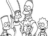 O The Simpsons Facebook Coloring Page