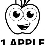 One Apple Coloring Pages