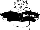 Read Bible Coloring Page