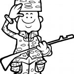 Ready Soldier Coloring Page