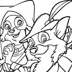 Robin Fox And Girlfriend Coloring Page