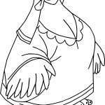 Robin Hood Lady Kluck Hen Coloring Page