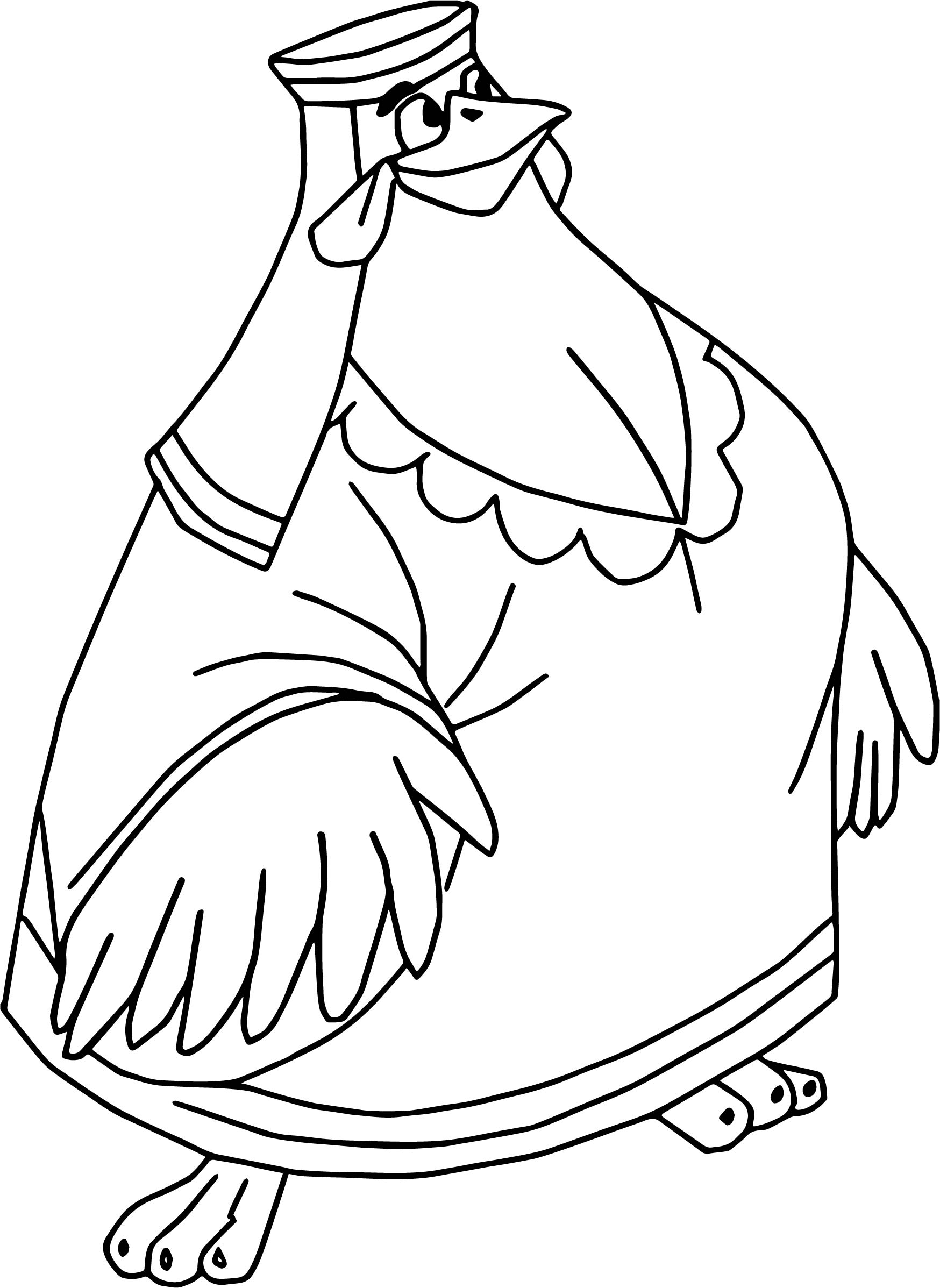 Robin Hood Lady Kluck Hen Coloring Page | Wecoloringpage.com