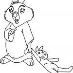 Robin Hood Tagalong Bunny Coloring Page