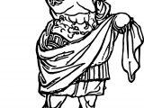 Roman Emperor Man Coloring Page
