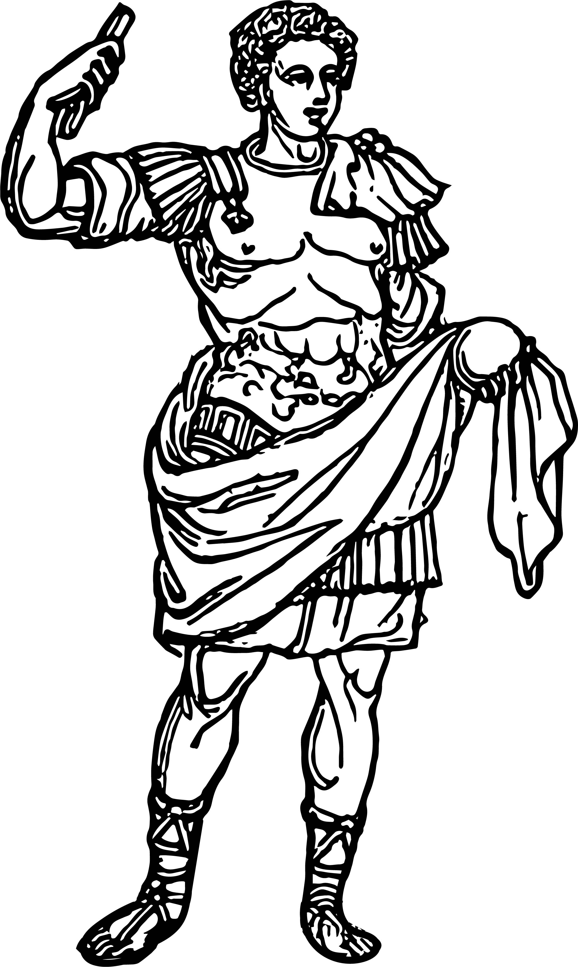ancient roman coloring pages | Roman Emperor Man Coloring Page | Wecoloringpage.com