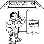Roman Man Labyrinth Enter At Your Risk Coloring Page