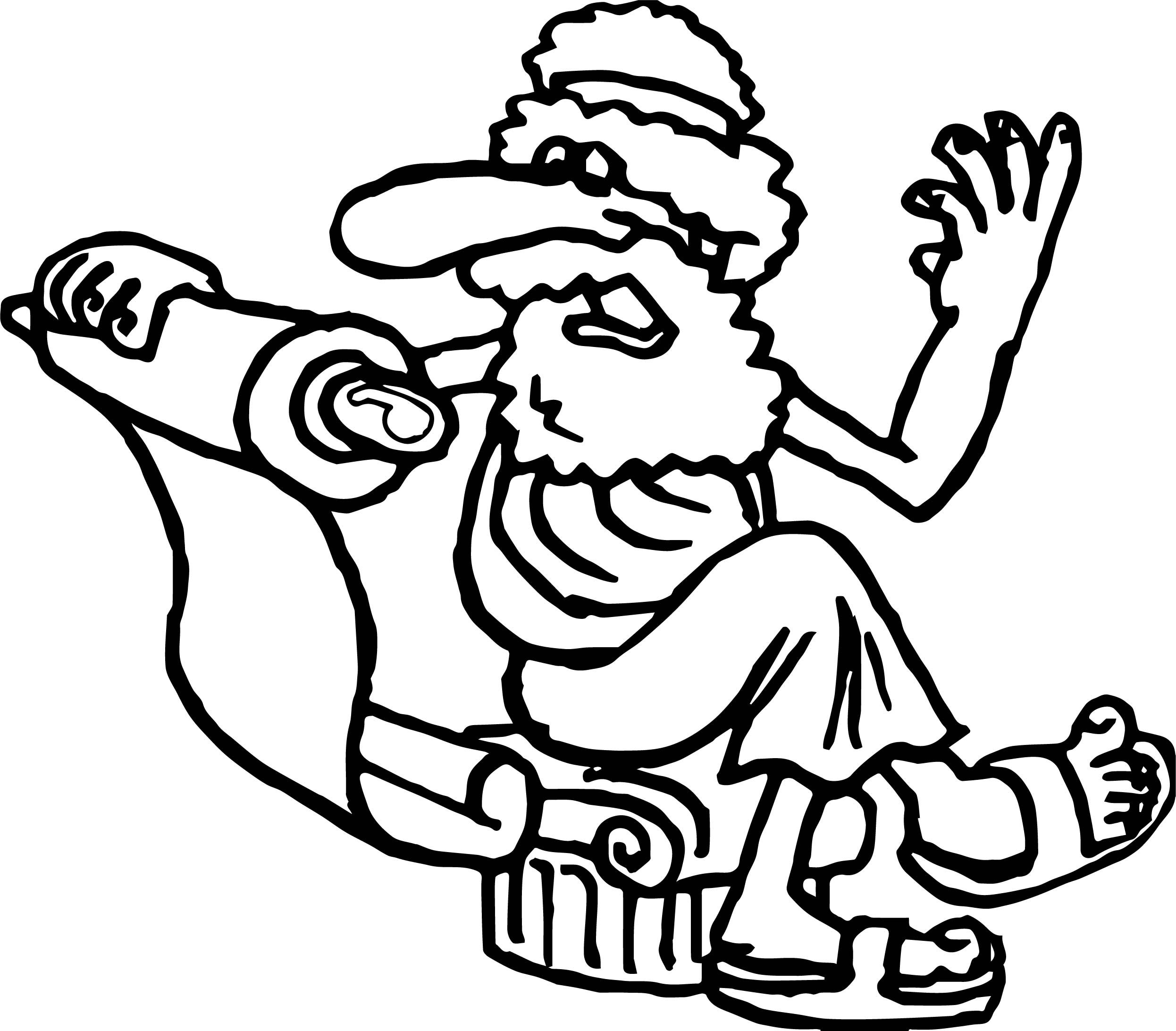 Roman Old Man Coloring Page