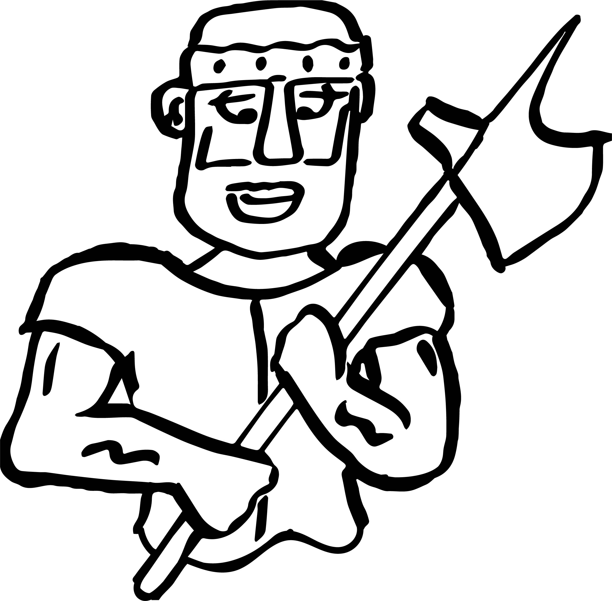 roman soldier axe coloring page wecoloringpagecom
