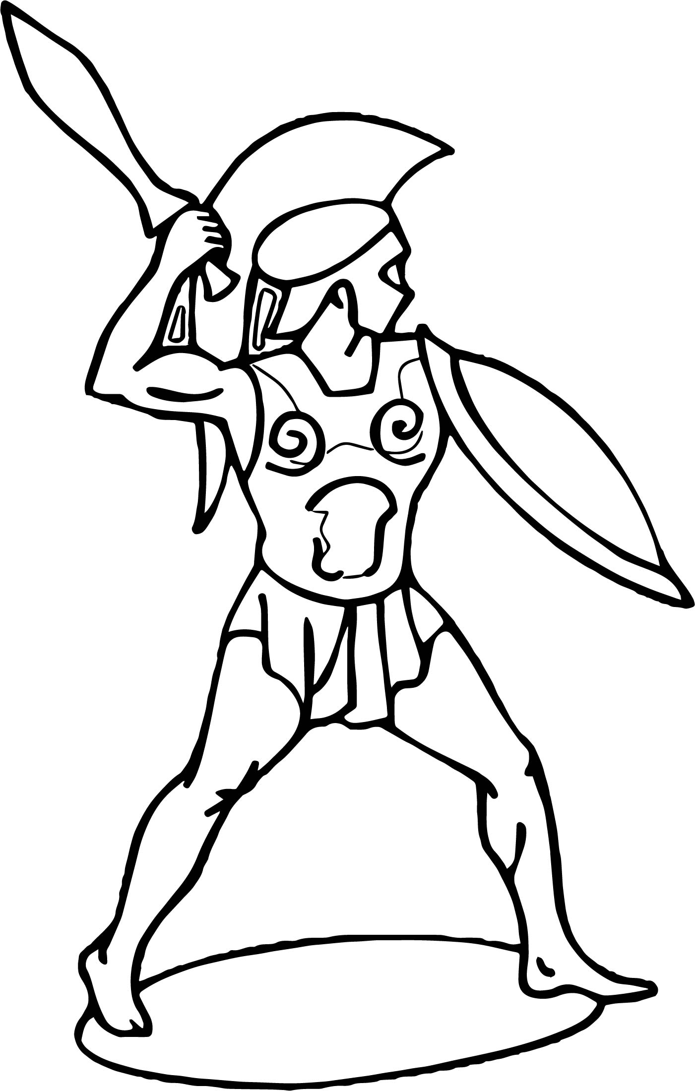 Roman Soldier Warrior Coloring Page