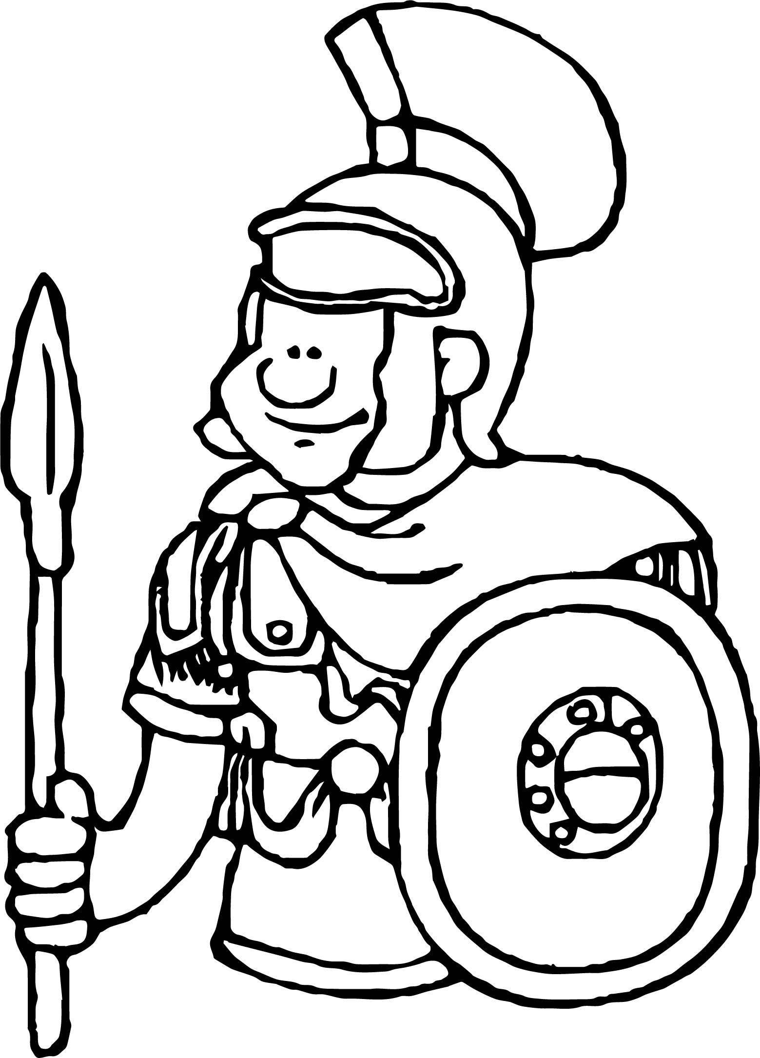 Rome Soldier Soldier Coloring Page