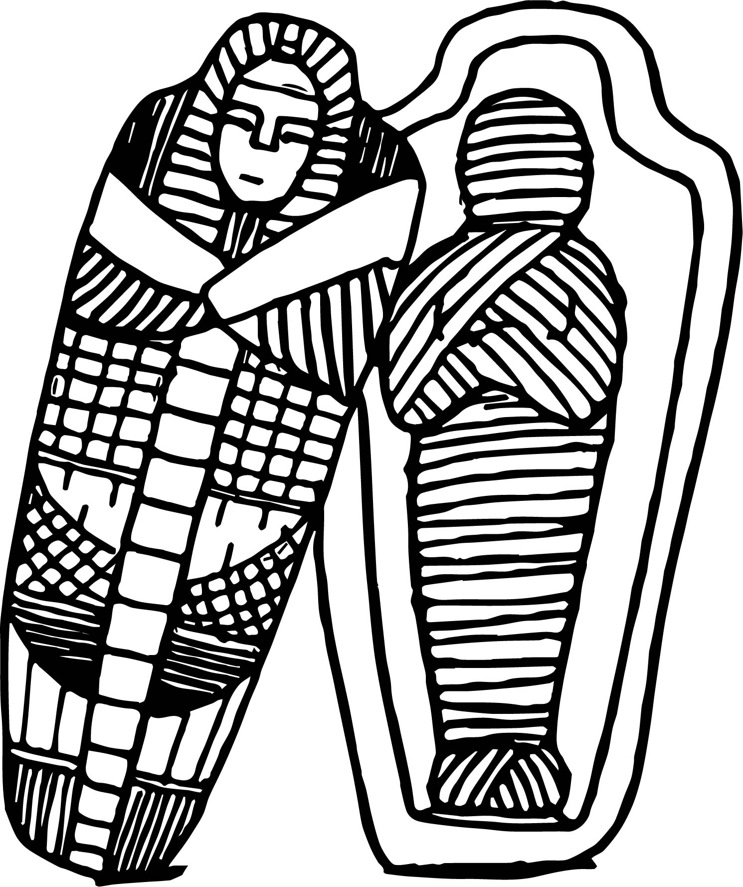 Sarcophagus Coloring Page