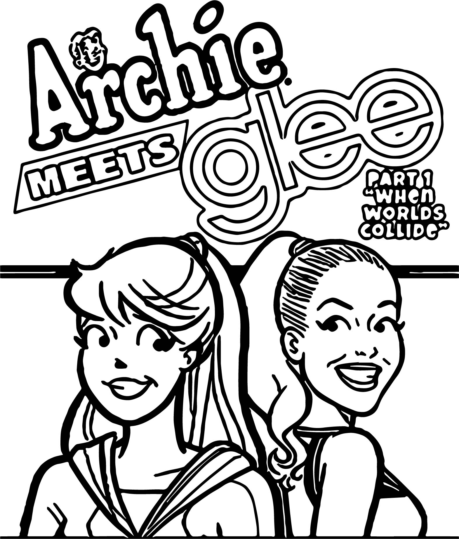 Si Archie Glee Cp Coloring Page