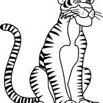 Sitdown Tiger Coloring Page