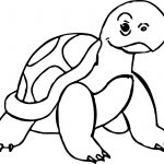 Slowly Tortoise Turtle Coloring Page