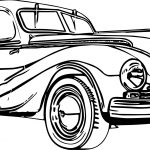 Small Vintage Antique Car Coloring Page