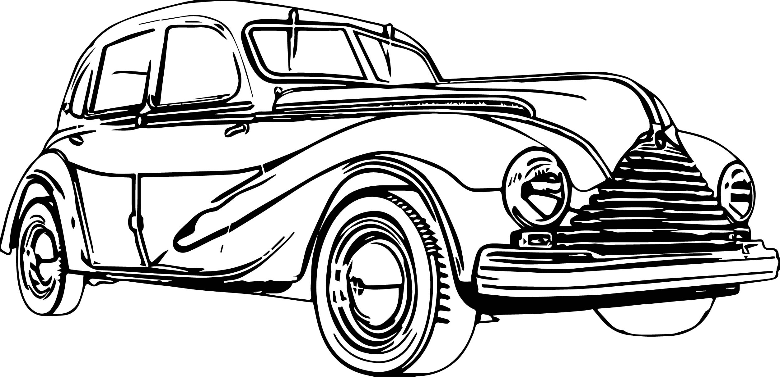 vintage car coloring pages - small vintage antique car coloring page