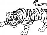 Smart Attack Tiger Coloring Page