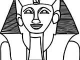 Smile Ancient Egypt Statue Coloring Page