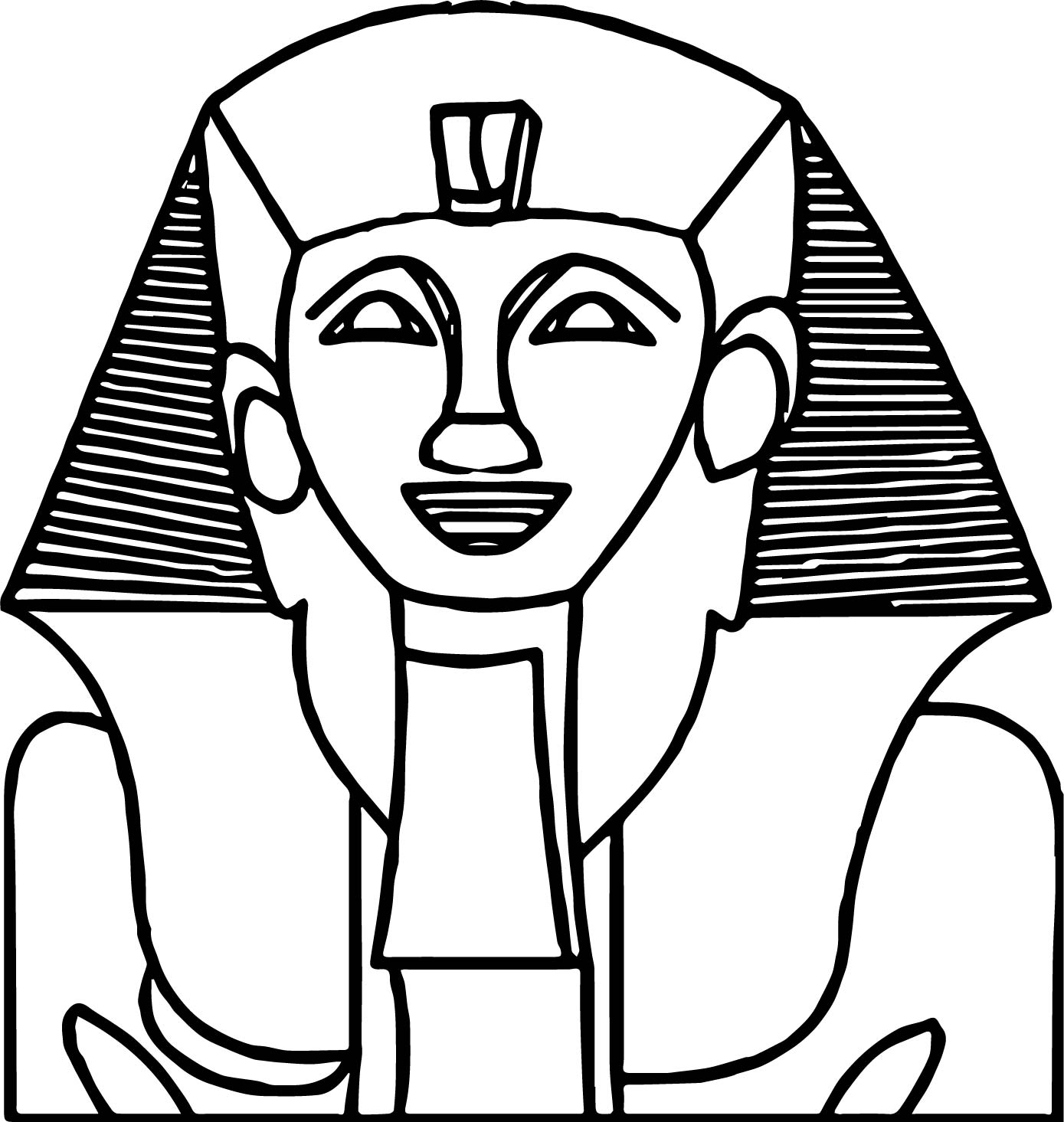Smile ancient egypt statue coloring page for Egypt coloring page
