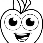 Smile Apple Coloring Pages