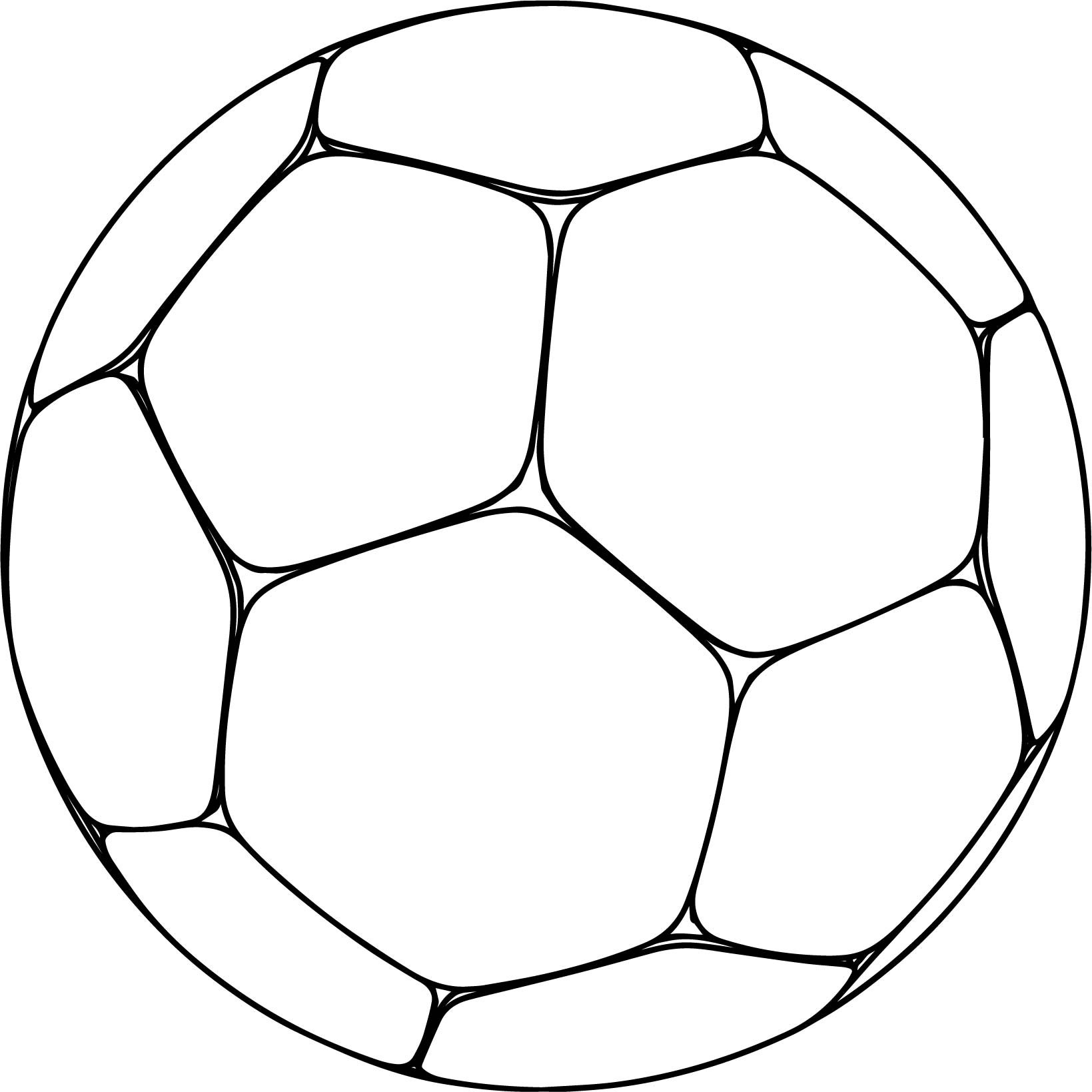 Soccer ball colouring pages