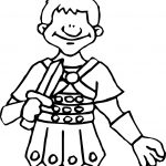 Soldier Cesar Coloring Page