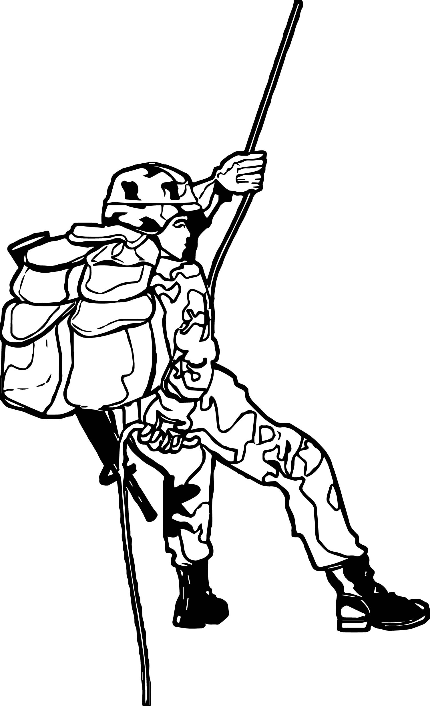 soldier mountain coloring page