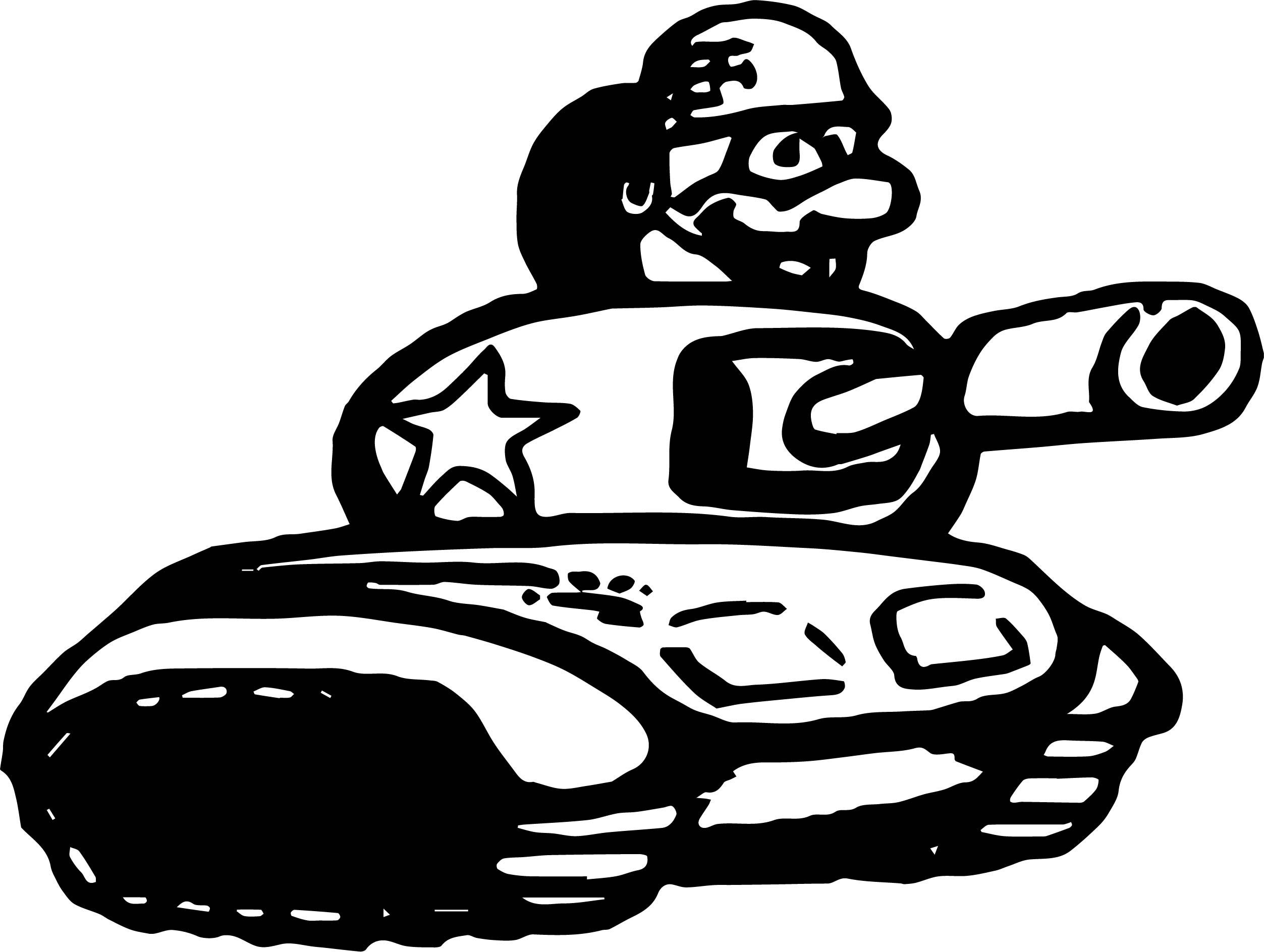 Soldier Tank Coloring Page