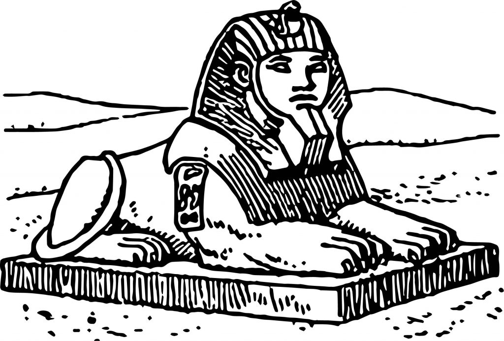 egyptian sphinx coloring pages - photo#22