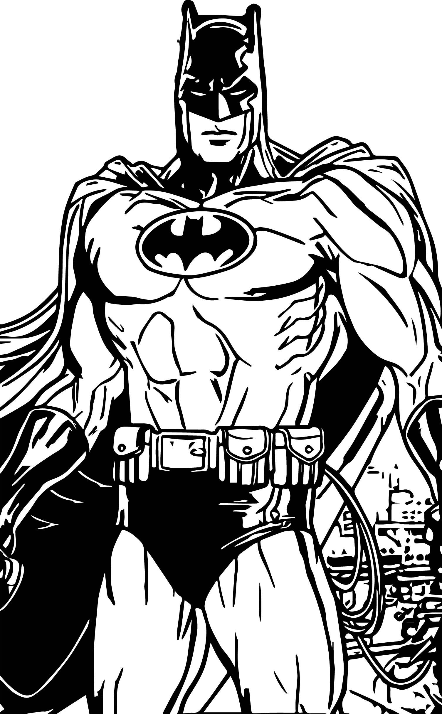 Superhero Batman Coloring Page