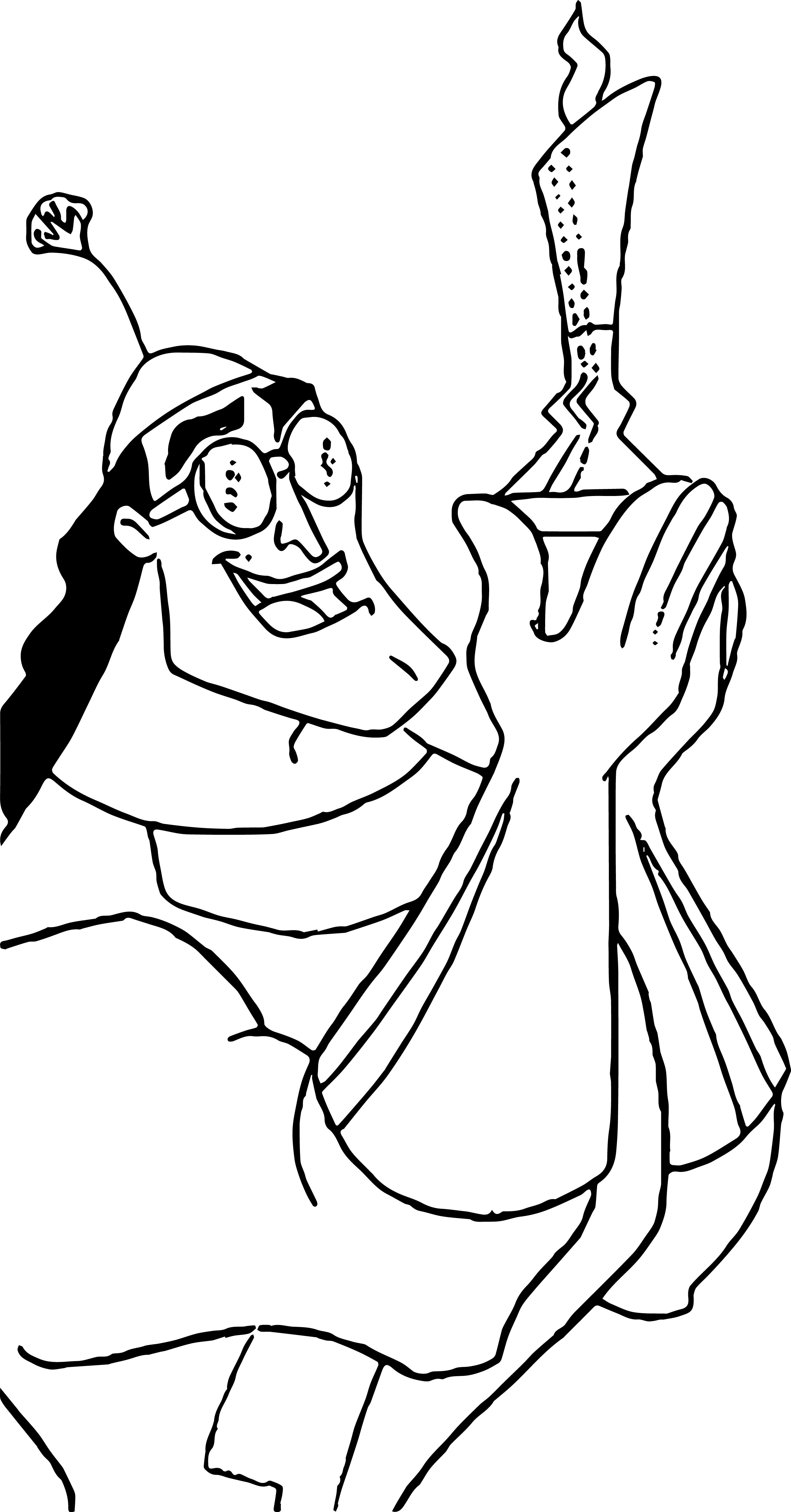 The Emperor New Groove Disney Light Coloring Page
