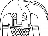 Thoth Face Coloring Page