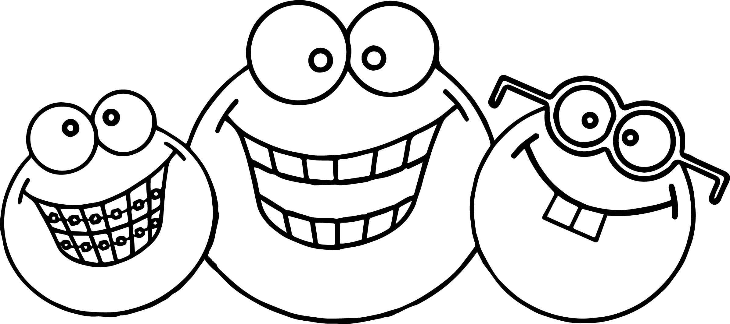 Three Face April Fool Coloring Page