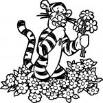 Tigger Flower Coloring Page