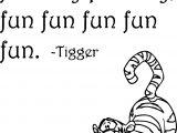 Tigger Fun Coloring Page