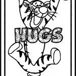 Tigger Hugs Coloring Page