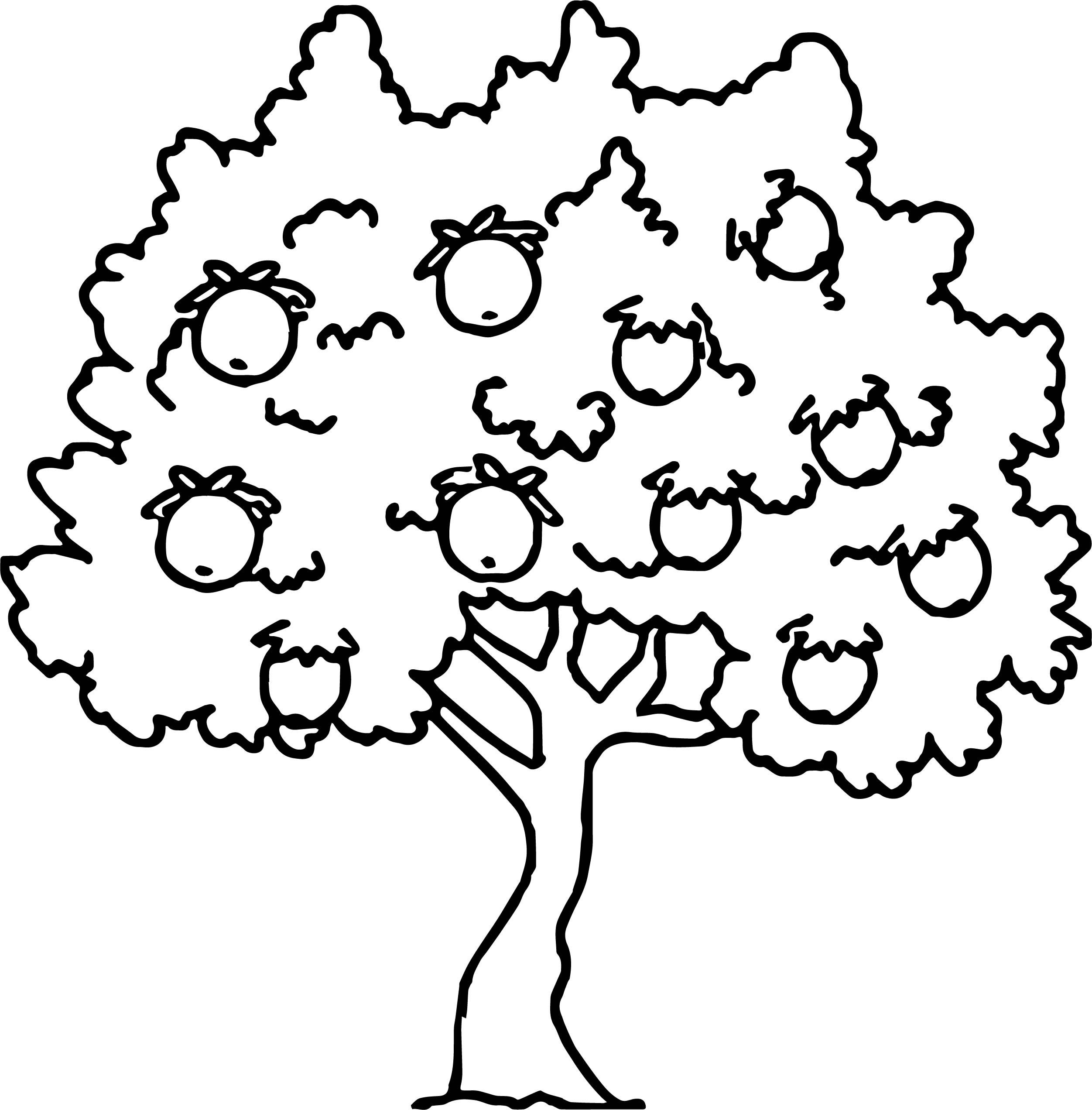 Too Much Apple Tree Coloring Page Wecoloringpage