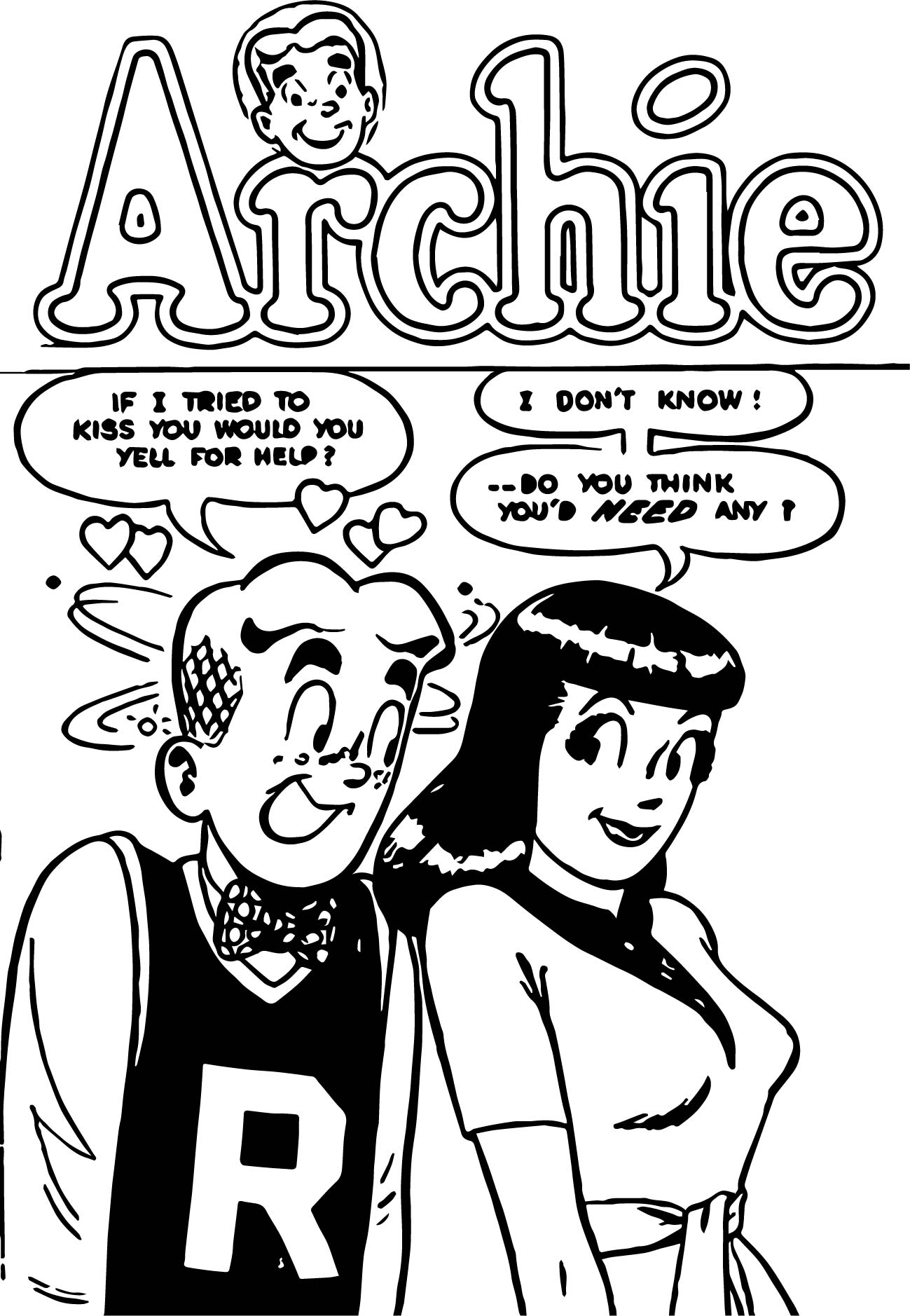 Veronica From Archie Coloring Page