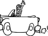 Vintage Antique Car Vacation Coloring Page