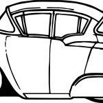 Vintage Antique Cartoon Car Coloring Page