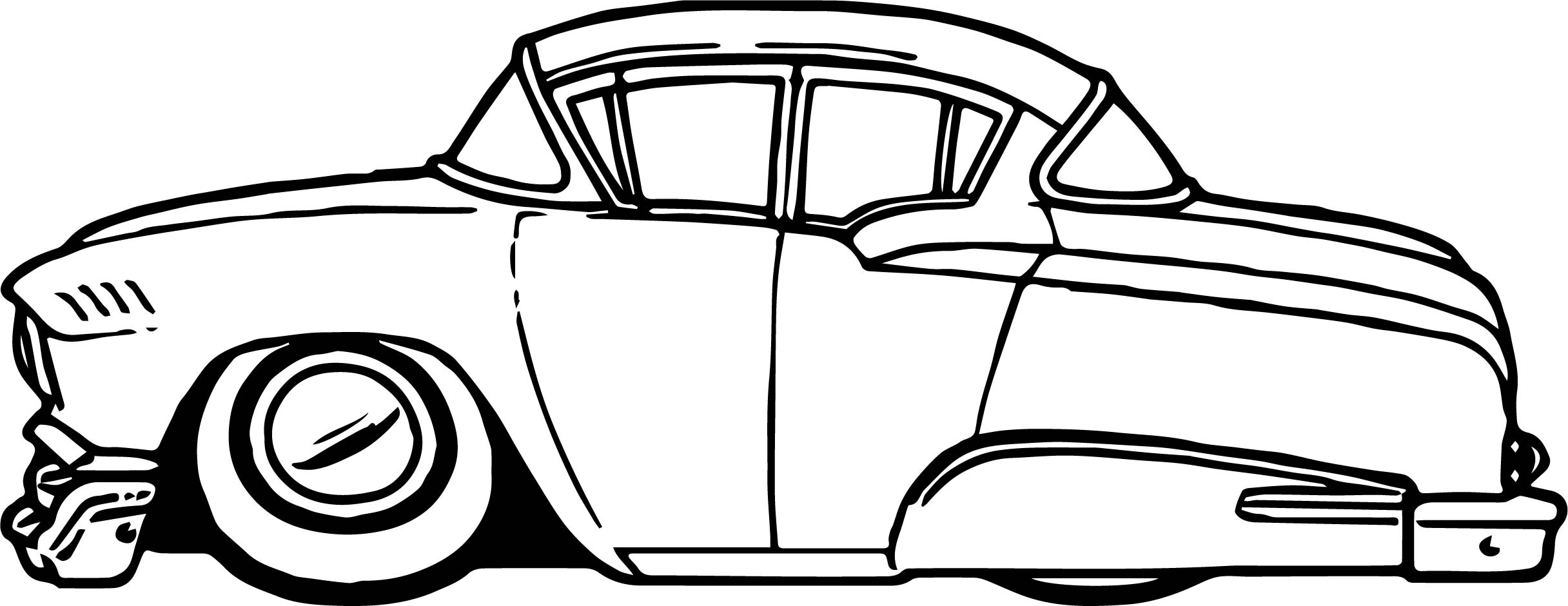 Coloring Pages Cars Cartoon : Antique car coloring book vintage